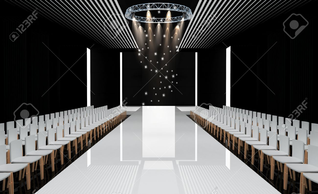 Runway Stage Clipart.