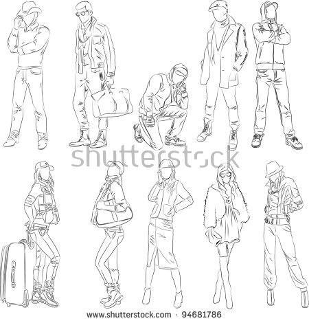 Man Fashion Sketch Stock Images, Royalty.