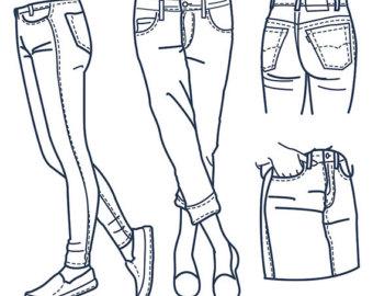 Jeans clipart.
