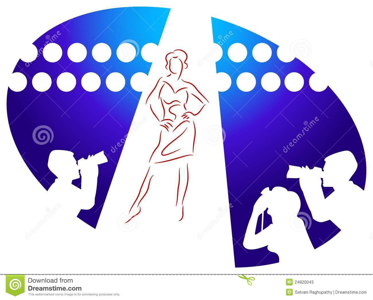 Spring Fashion Show Clipart.