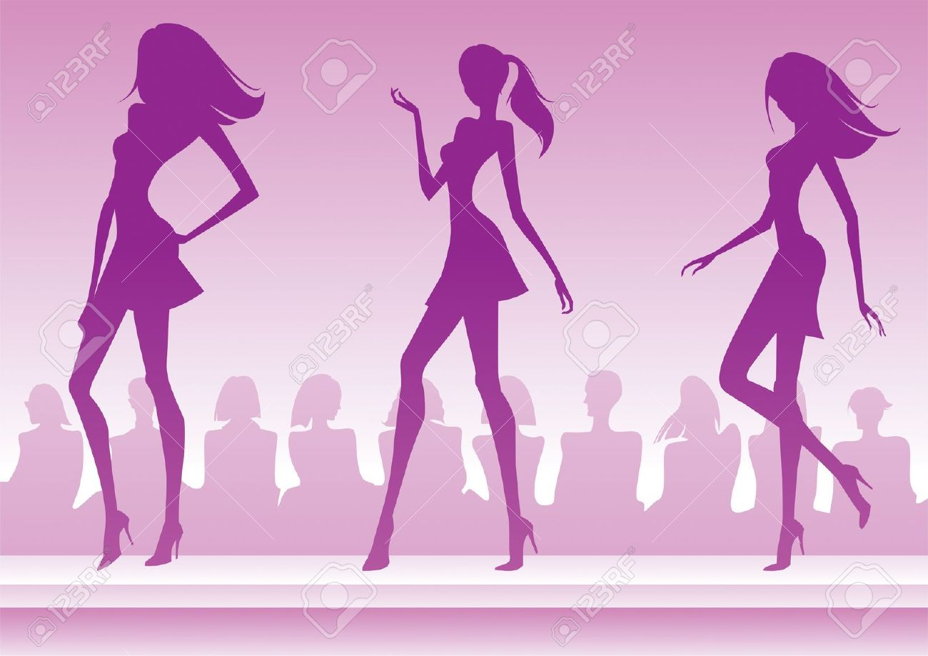 Fashion show runway clipart.