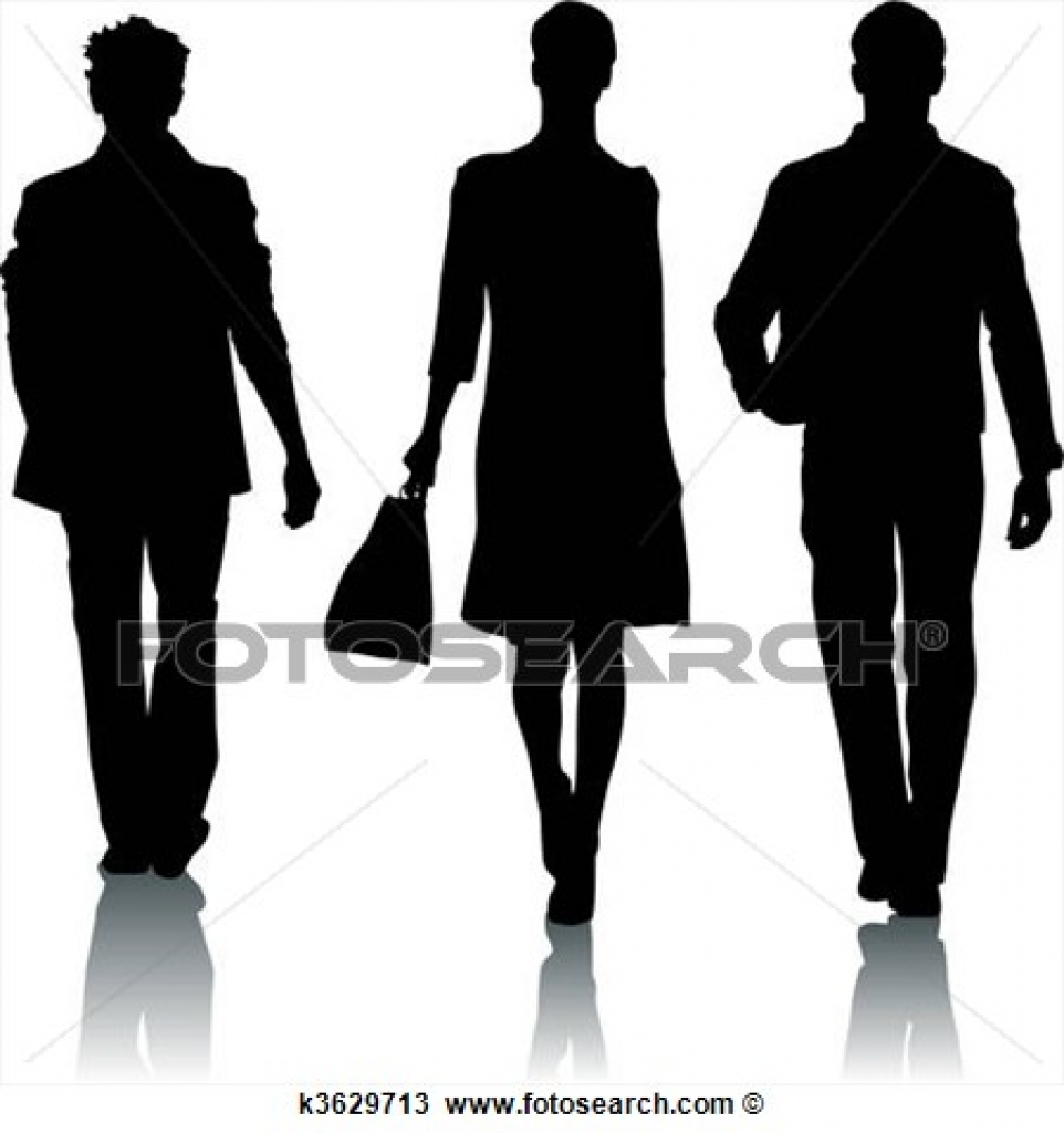 clipart of silhouette fashion woman and man k3629724 search clip.