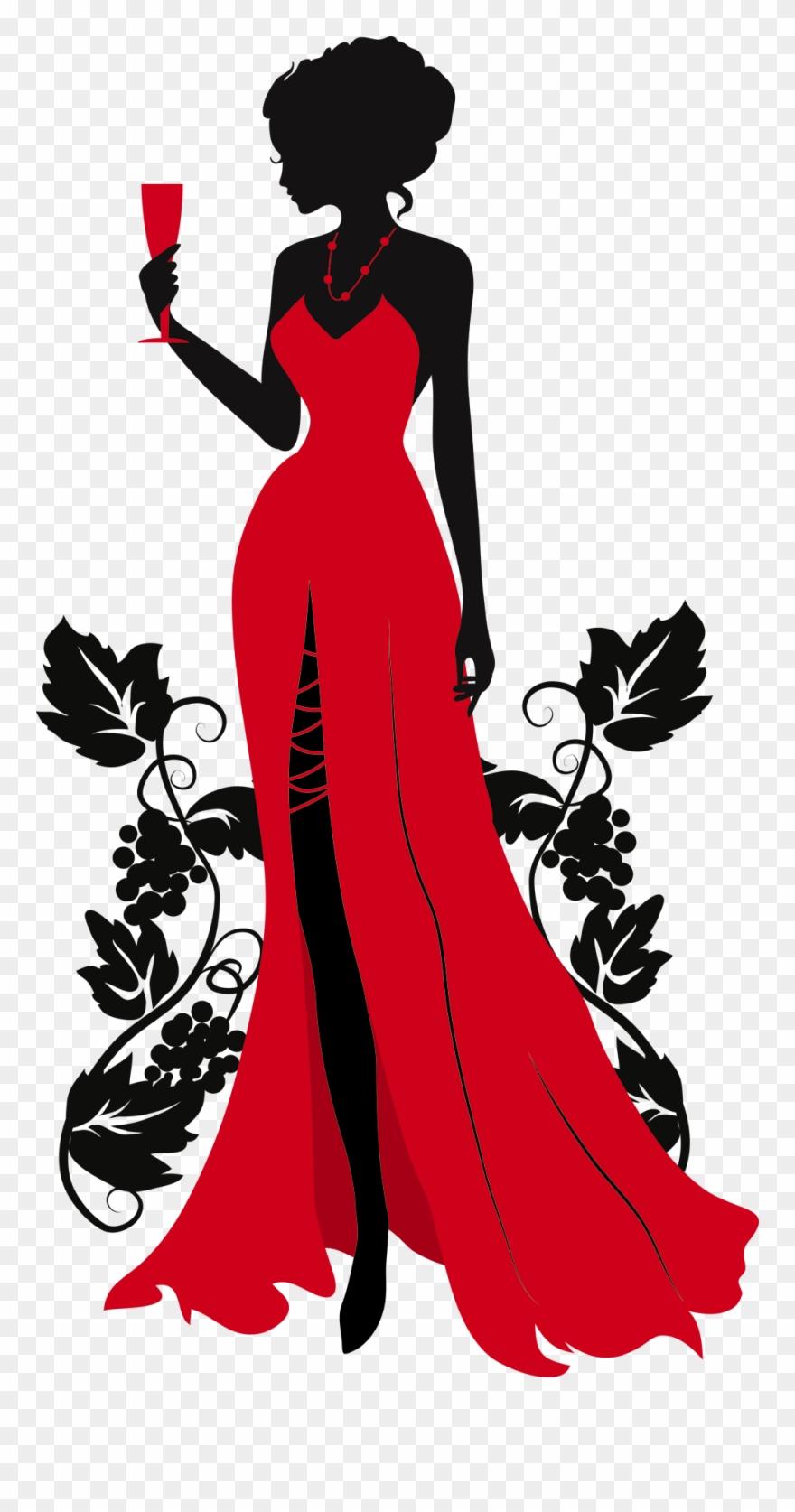 Woman Silhouette, Vintage Silhouette, Silhouette Art.