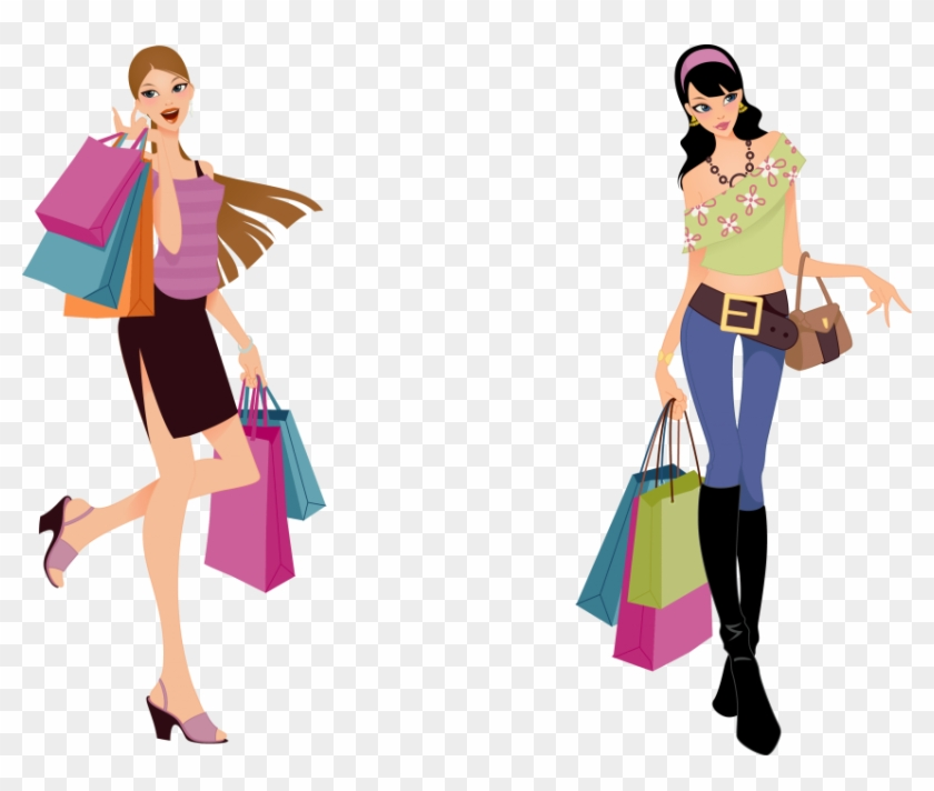 Free Png Download Fashion Shopping Girl Vector Png.