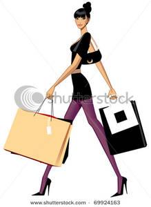 City Woman Going Shopping.
