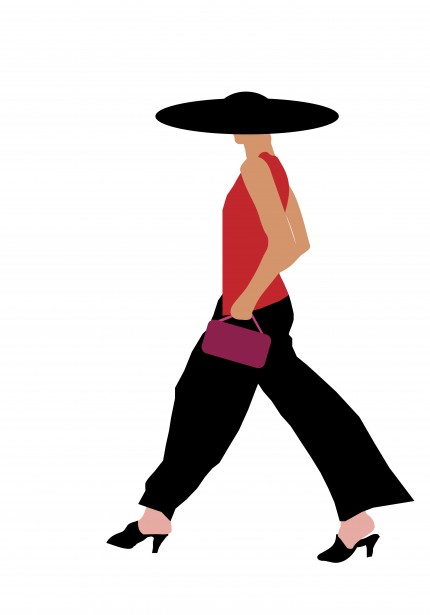 Clipart fashionable lady.