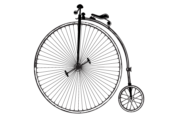 Vintage Old Fashioned Bicycle Free Clip Art.