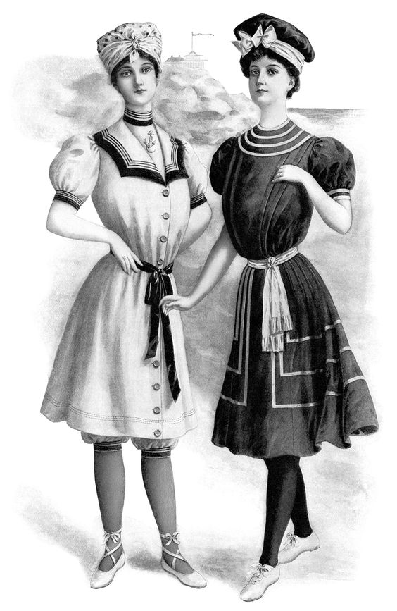 victorian fashion illustration, vintage ladies fashion clip art.