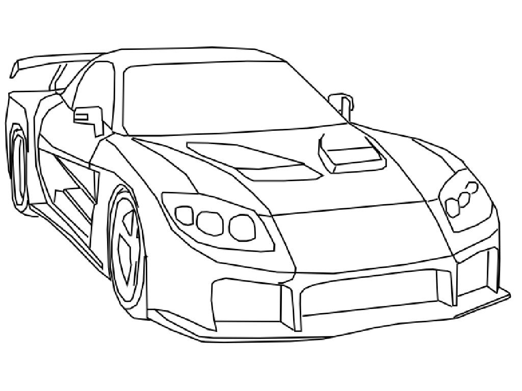 Fast And Furious Coloring Page.