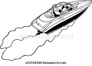 Fast boat clipart #4