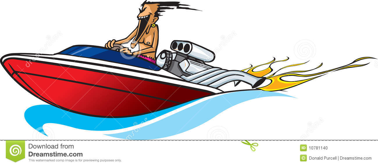 Cartoon Speed Boat Stock Photos, Images, & Pictures.