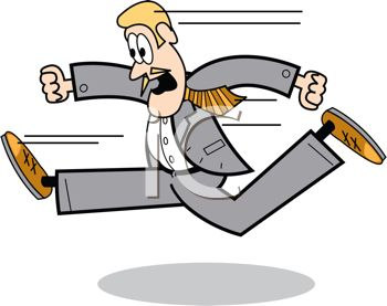 Person Running Fast Clipart.