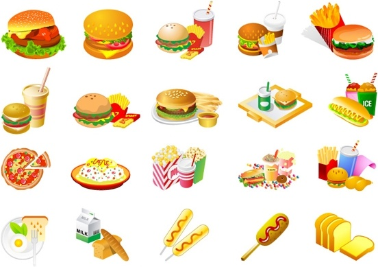 Westernstyle fast food clip art Free vector in Adobe.