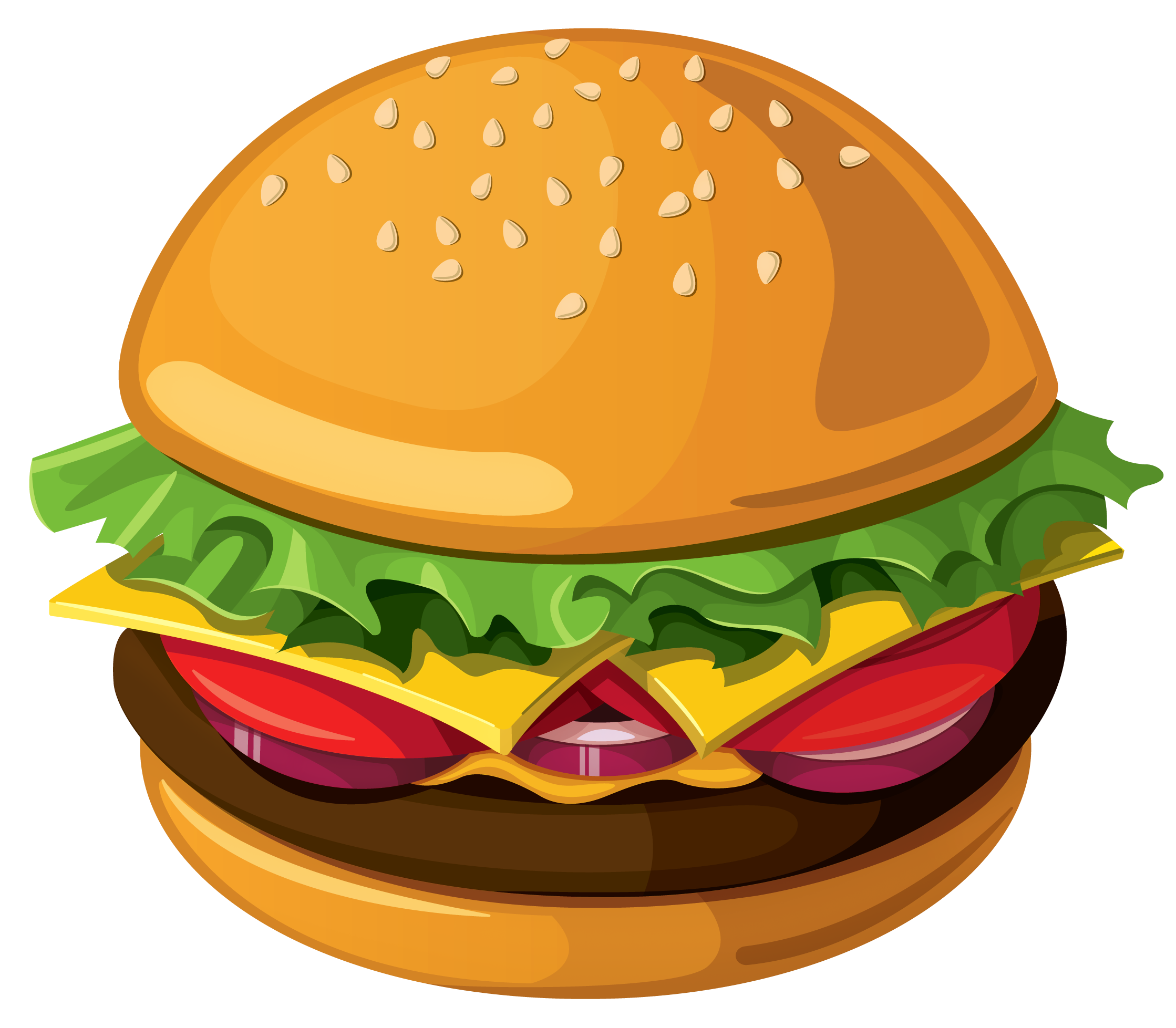 Hamburger PNG Vector Picture.