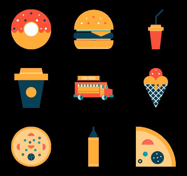 199 fast food icon packs.