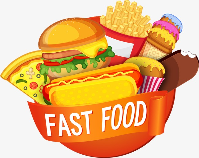 Vector Fast Food Diet, Fast Food Diet, F #16029.