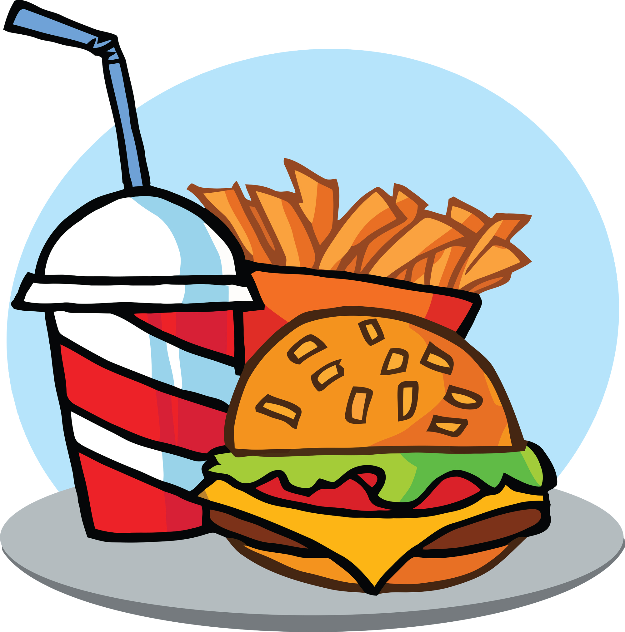 Fast Food Restaurant Clipart.