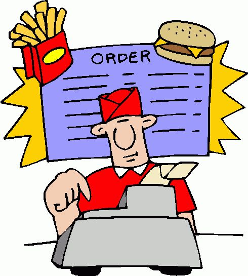 Fast food restaurant clipart.