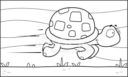 Fast Turtle Clipart Image.