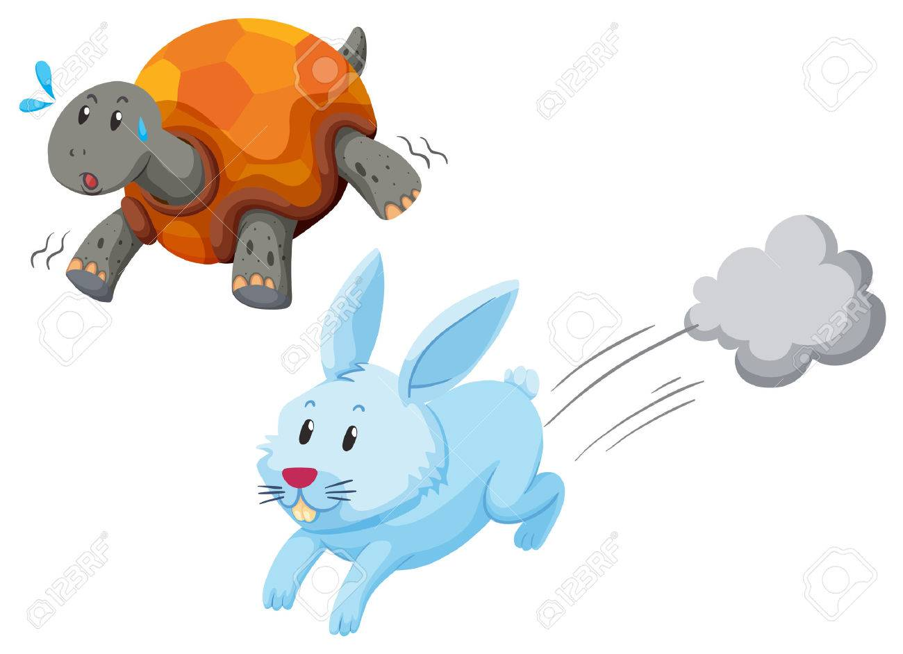 Rabbit And Turtle Clipart.