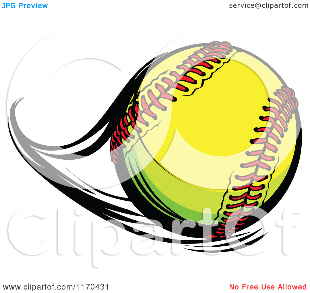 Cartoon of a Flast Flying Softball.