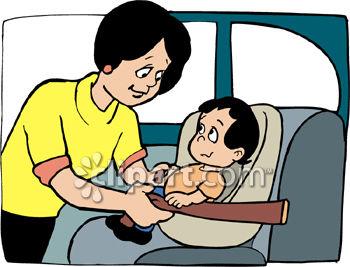 Car Seat Safety Clip Art.