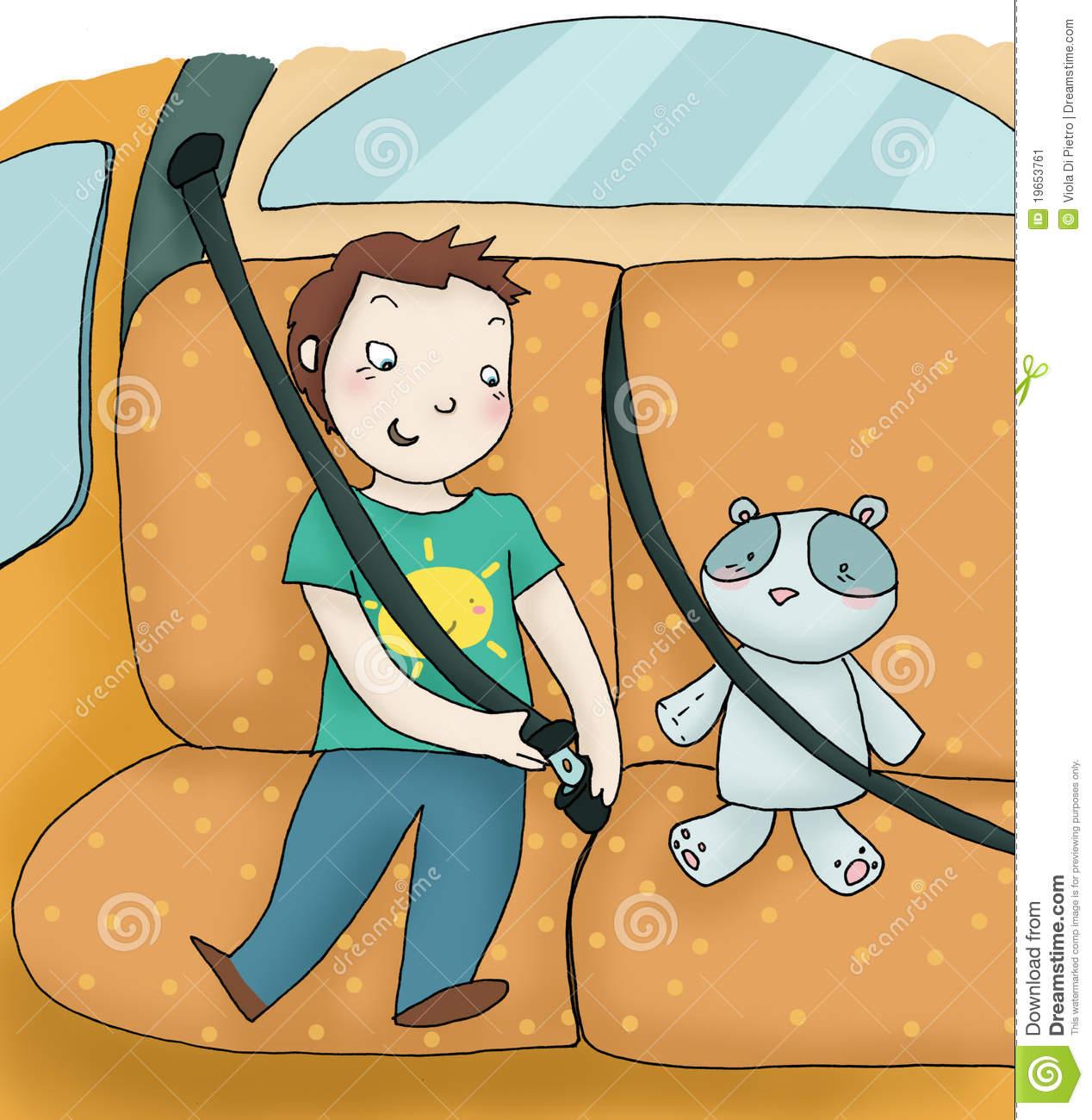 Child And Seat Belt Stock Image.