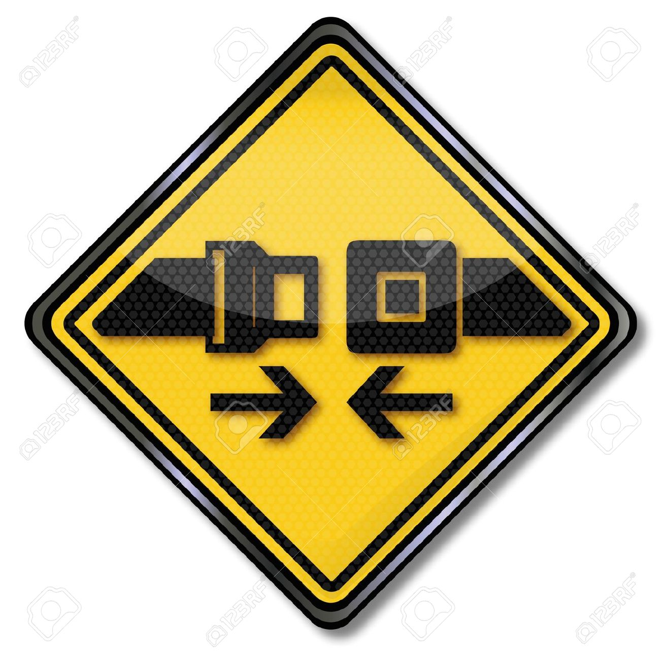 Sign Please Buckle And Fasten Your Seatbelts Royalty Free Cliparts.