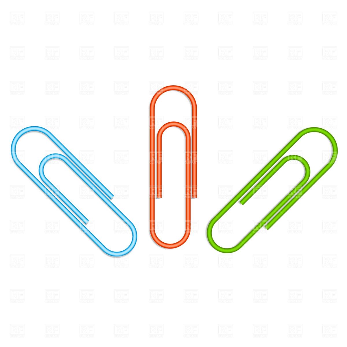 Paper clip / fastener Vector Image #1764.