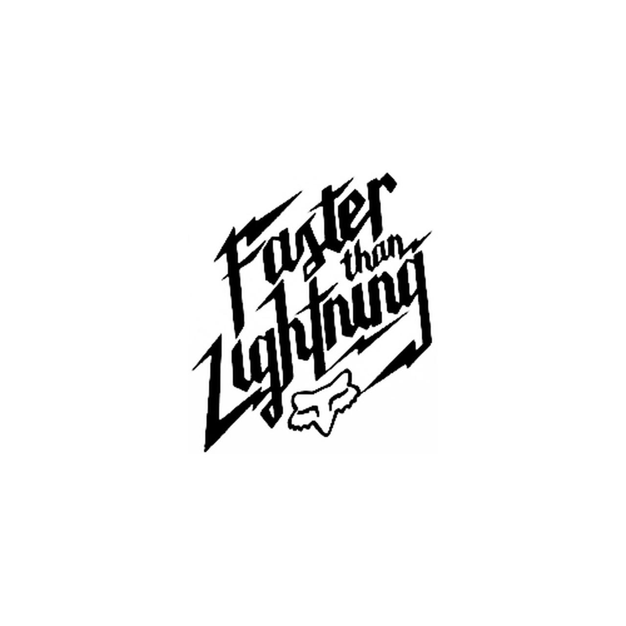 Fox Racing Faster Than Lightning Logo Vinyl Decal.