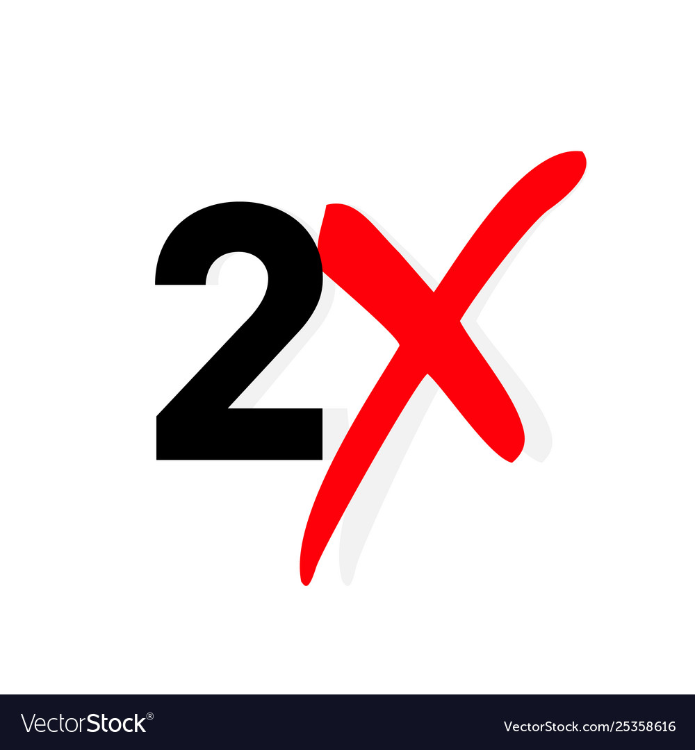 2x logo icon x2 text letter double faster.