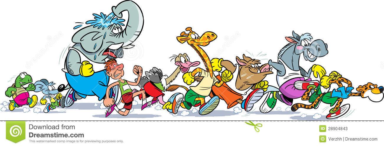 Who Runs Faster Stock Photos.