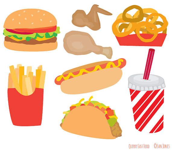 Fast food burger clipart.