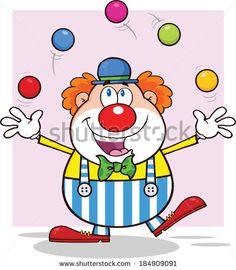 A Creepy Fat And Tall Clown.