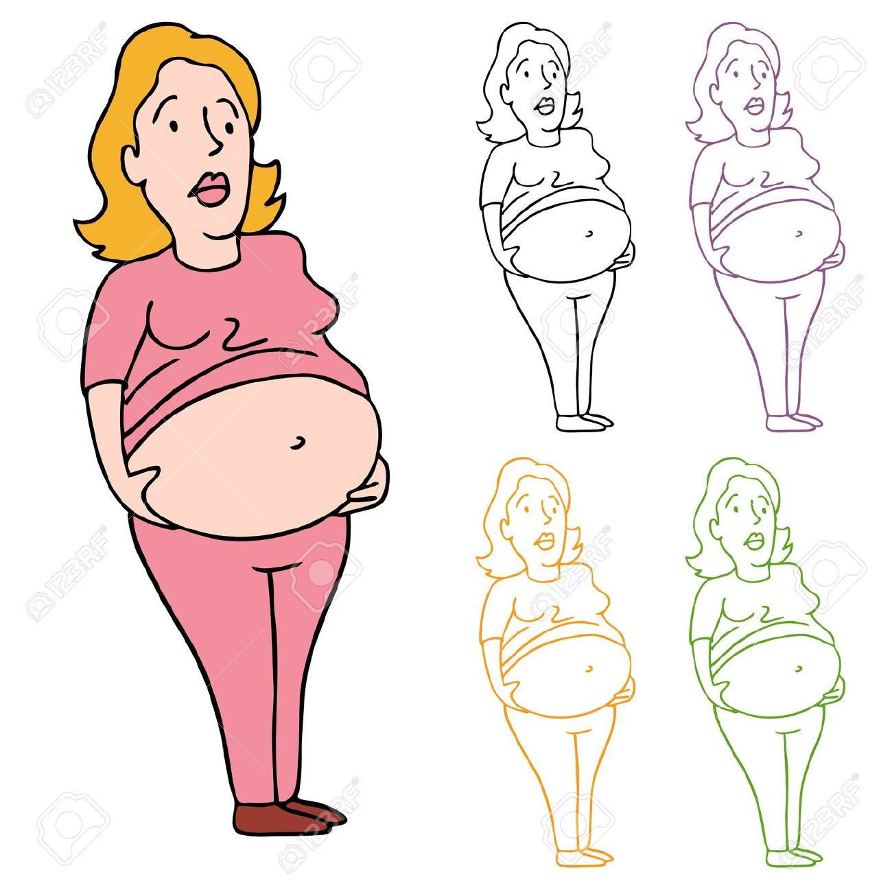 Fat belly clipart.