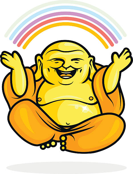 Best Laughing Buddha Illustrations, Royalty.