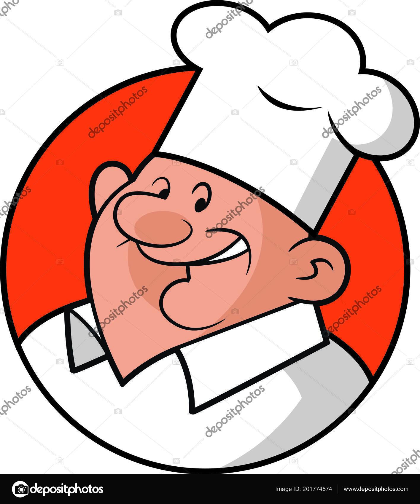 Clipart: fat chef.