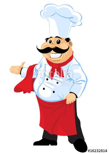 Fat Chef Clipart.