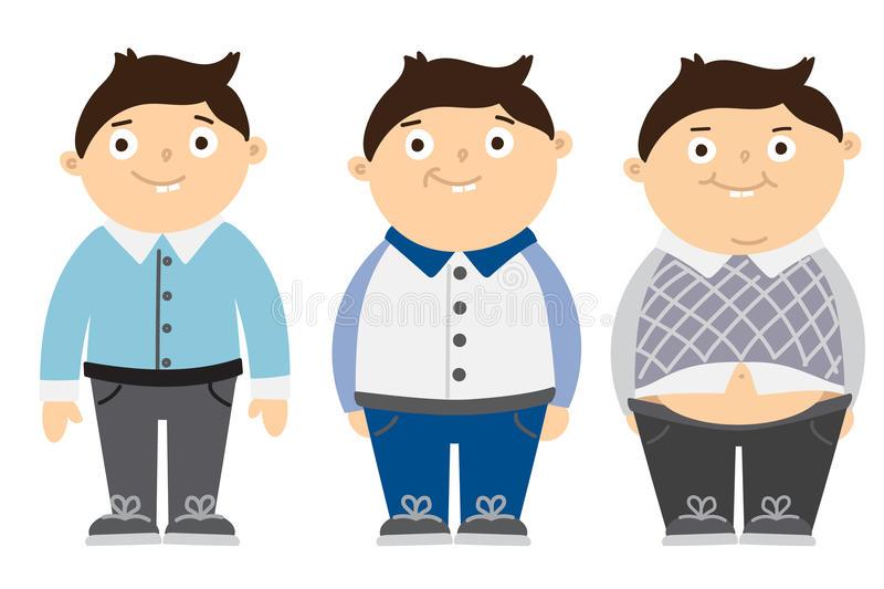 Fat Kid Stock Illustrations.