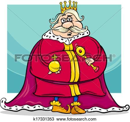 Clipart of fat king cartoon fantasy character k17331353.
