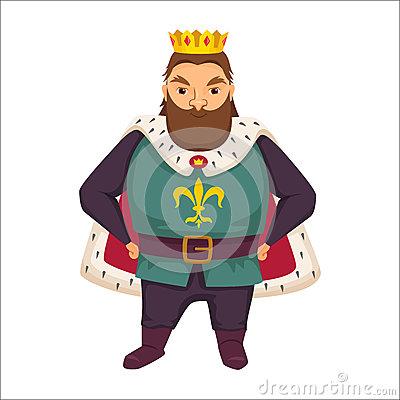 Fat King Cartoon Fantasy Character Royalty Free Stock Photography.