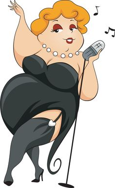 Fat Lady Singing Clipart.