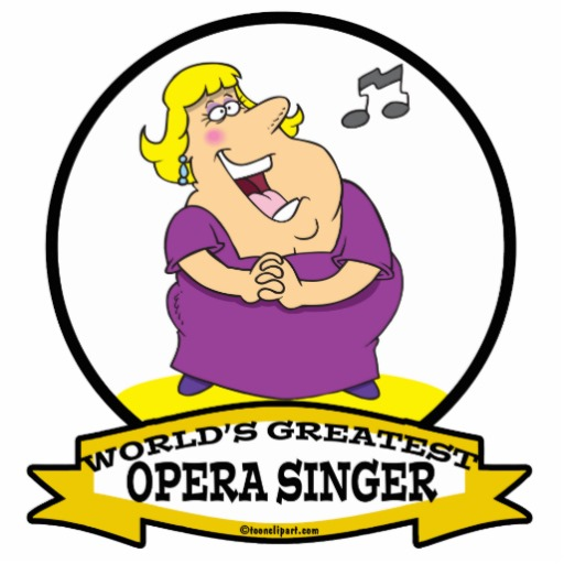 WORLDS GREATEST OPERA SINGER FAT LADY CARTOON PRINT.