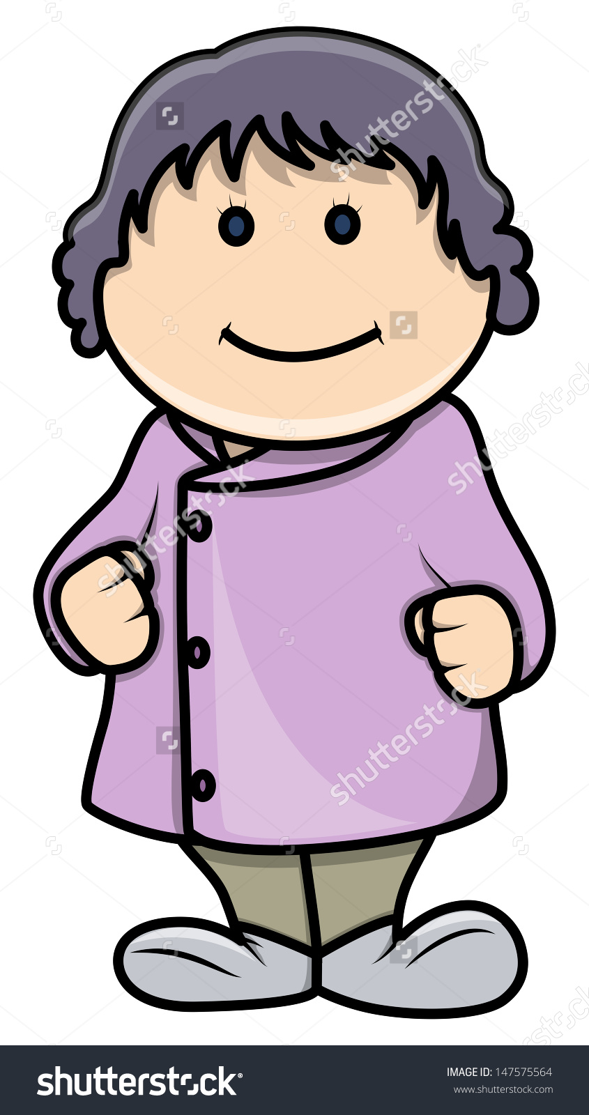 Cute Fat Little Girl Vector Cartoon Stock Vector 147575564.