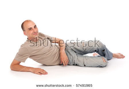 Man Lying Down Stock Images, Royalty.