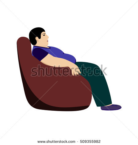 Lazy Man Stock Images, Royalty.