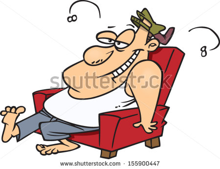 Lazy Man On Couch Stock Images, Royalty.