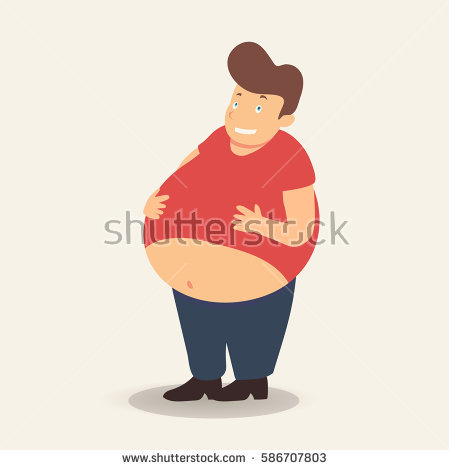 Fat Man Standing Stock Images, Royalty.