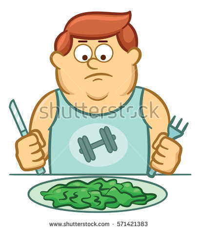 Fat Man Eating Stock Images, Royalty.