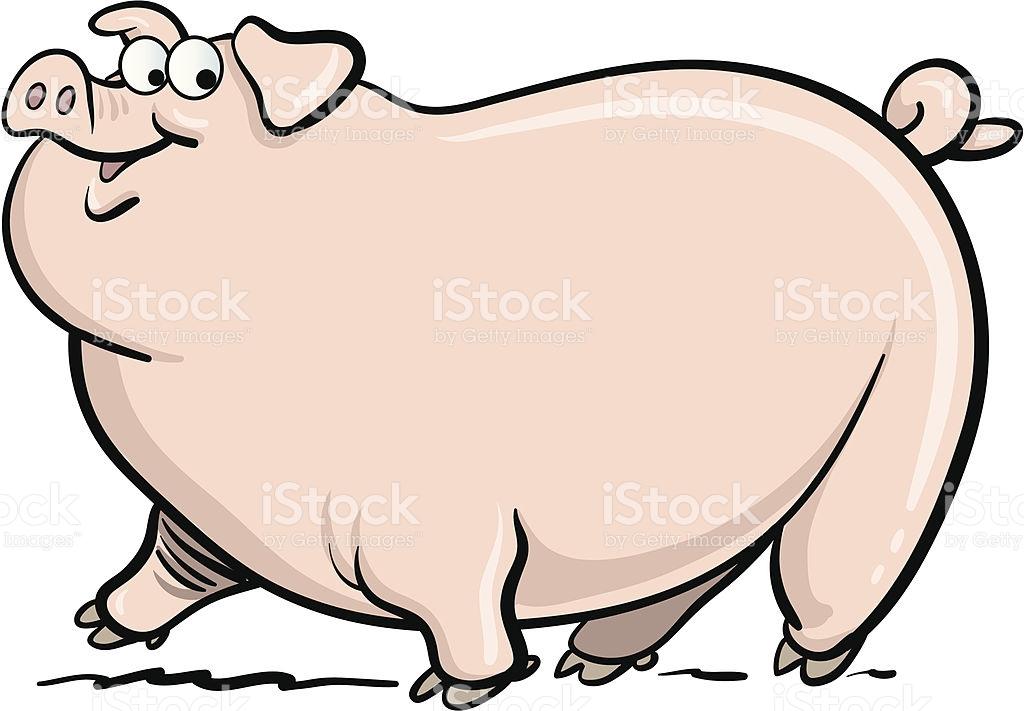 Fat Pig Clipart.